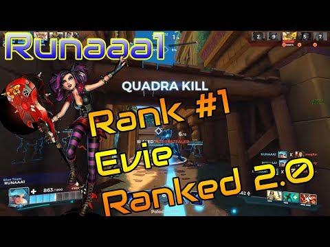 Runaaa1 EVIE POV   Rank #1 Evie Ranked 2.0   Quadra Kill