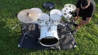 I got a new drum kit - Yamaha stage custom studio (kolomusicTV)