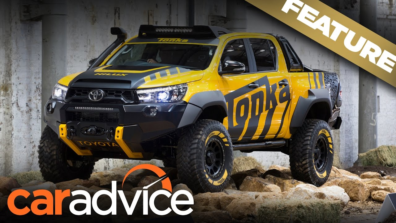 Playtime with the Toyota HiLux Tonka concept & 2017 Toyota ...