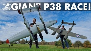Epic Warbird Air Race! | Giant DIY P-38 Lightnings