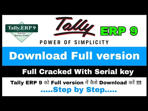How to Crack tally ERP 9 Full version Lifetime Free 💯% Real Video Not Fake