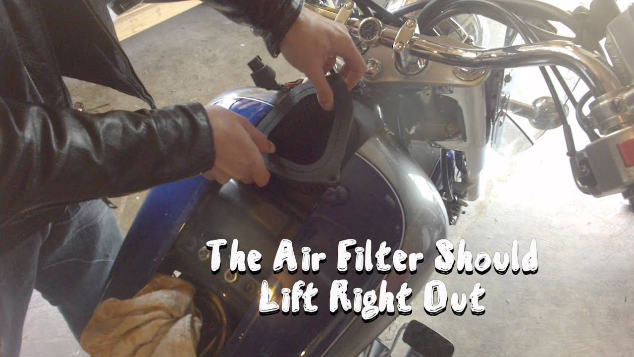 how to replace / remove k&n air filter suzuki vl1500 and boulevard