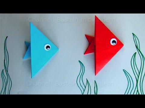 Fische basteln mit Kindern Ideen Geschenk basteln mit