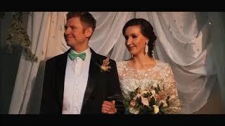 Очень красивая христианская свадьба - ролик с венчания