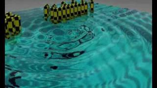 surface fluid wave lens designed with genetic algorithms