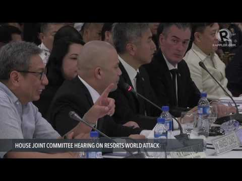 Fariñas grills Resorts World Manila security manager at House hearing