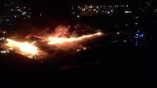 Пожар, рынок Оболонь Киев 14/08/2013