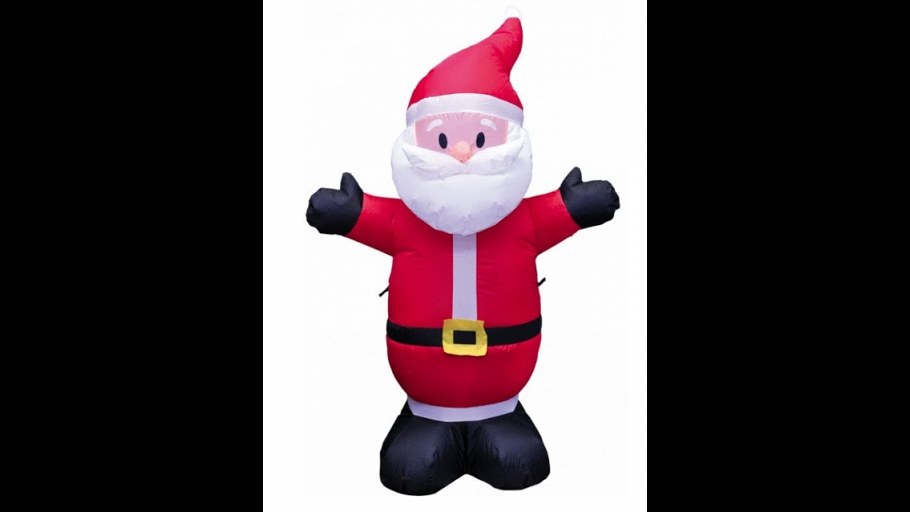 Exceptional 4ft Inflatable Santa Claus Yard Decoration   YouTube