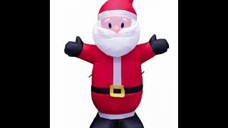 4ft Inflatable Santa Claus Yard Decoration