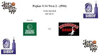 Skuru Basket (P04) mot Huddinge Basket - 2017-09-17