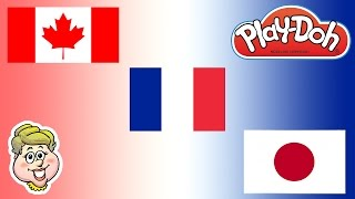 Play-Doh Flags!  Canada, France, and Japan!  How Do You Say Hello?  EWMJ #46