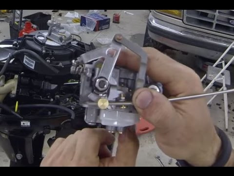 9 9HP Mercury Outboard Carburetor Cleaning Rebuild