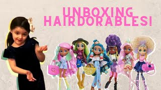 Unboxing TWO Hairdorables And FIVE Barbie Blind Bags!!!