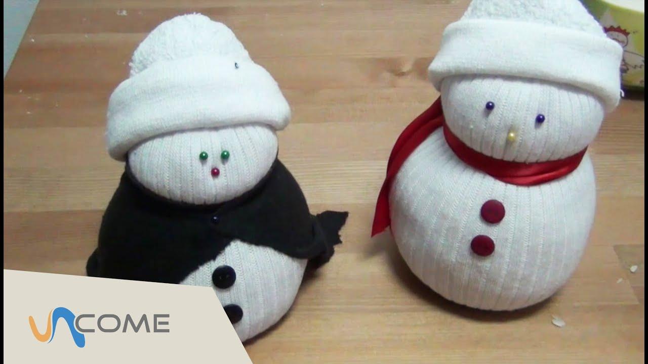 Lavoretti Di Natale Veloci E Facili.Attivita Manuali Facili Pupazzo Di Neve Per Natale Youtube