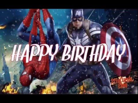 Captain America Spider Man Happy Birthday Youtube