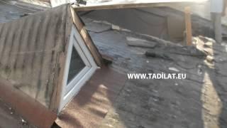 Çatı yükseltme , kuşluk çatı penceresinin yükseltilmesi ve genişletilmesi