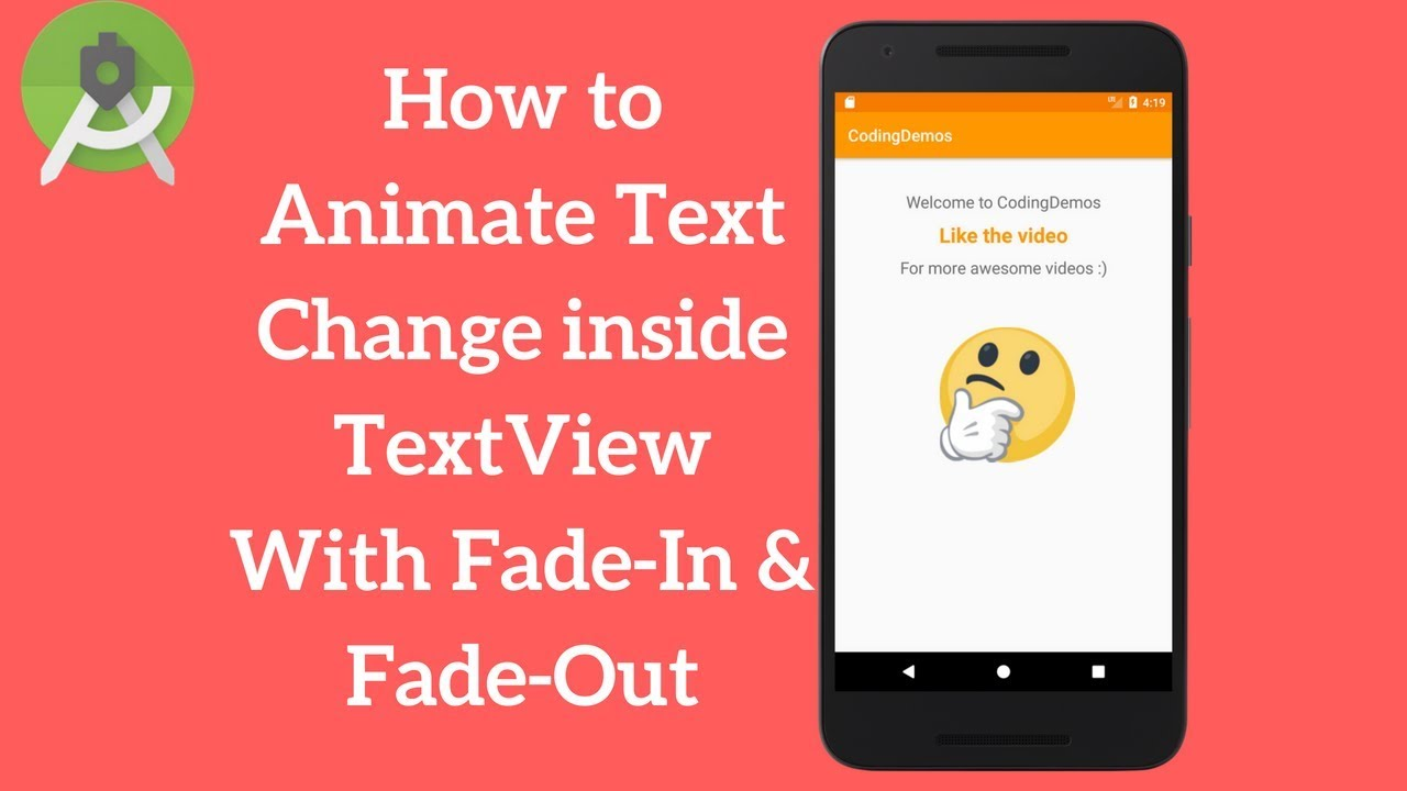 Android TextView Animation - Animate Text Change in TextView