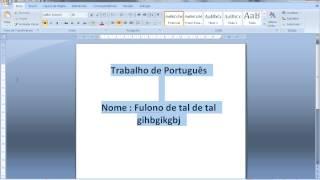 Como Salvar Texto no Word 2007