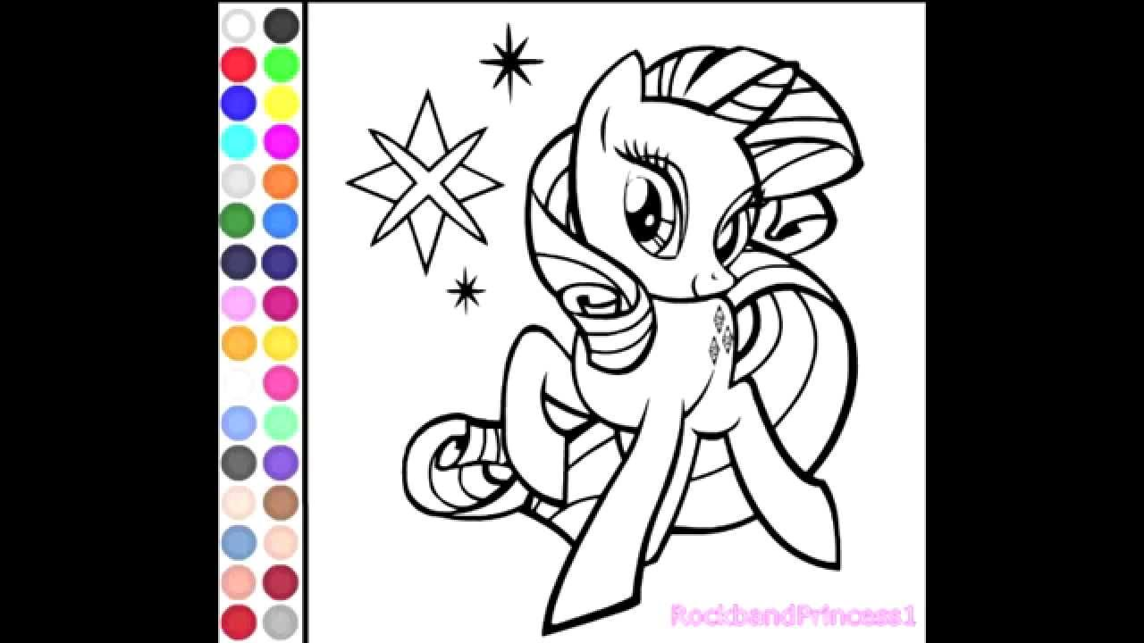 My Little Pony Coloring Games Online For Kids Free - YouTube