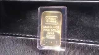 Gold bar credit Swiss one ounce