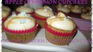 Apple Cinnamon Cupcake Caramel Cream Cheese Frosting / Carisma Sl