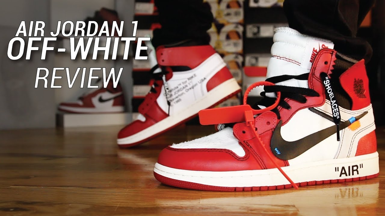 88dc50f38942 OFF WHITE AIR JORDAN 1 REVIEW (Signed By VIRGIL ABLOH) - YouTube