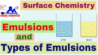 Emulsions and types of emulsions in English