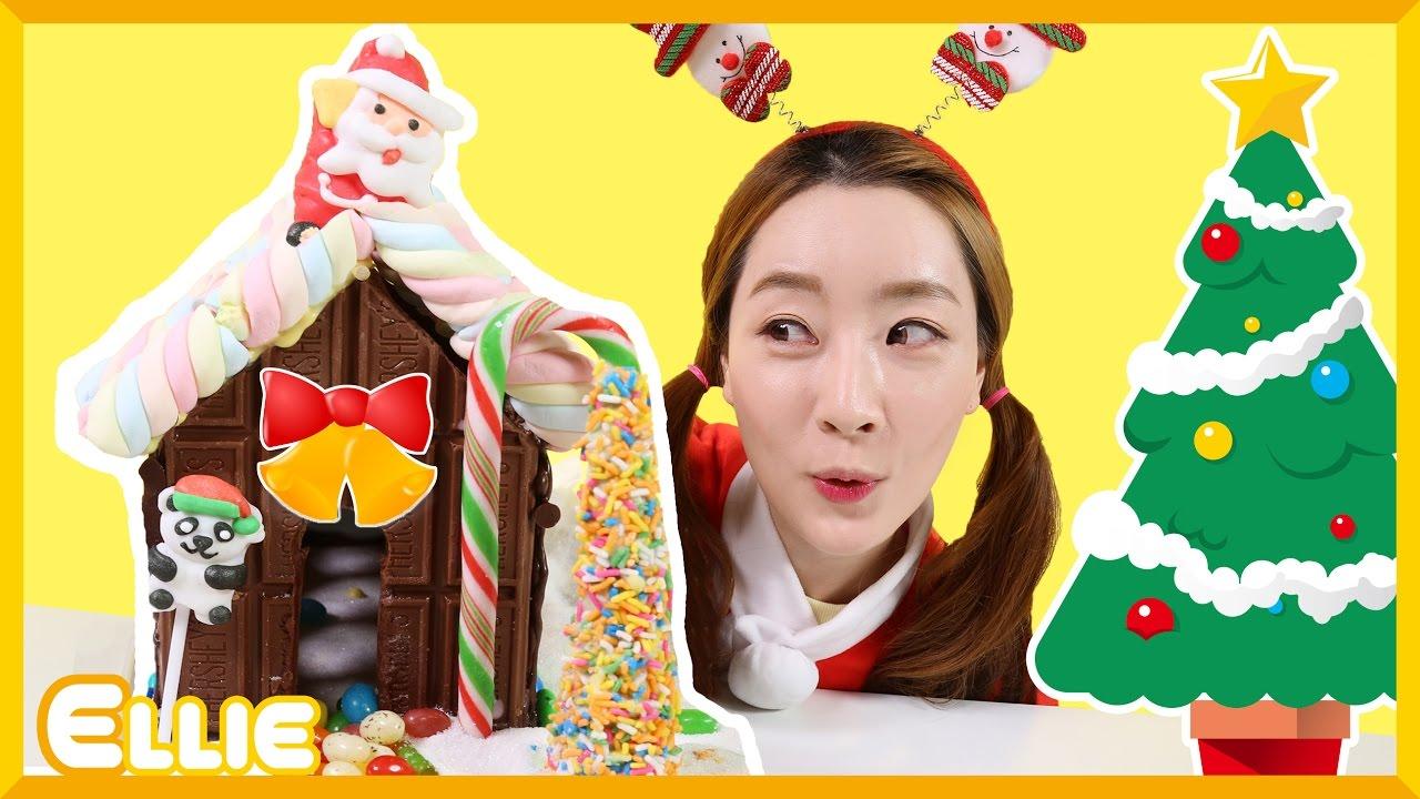 愛麗的聖誕節巧克力屋子製作 DIY遊戲 | 愛麗和故事 EllieAndStory - YouTube