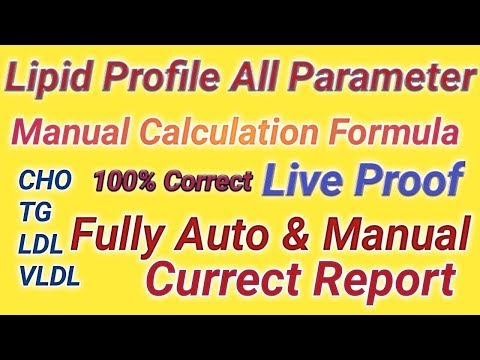Lipid Profile Formula I Manual Cholesterol Formula Lipid Profile