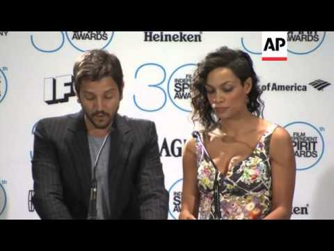 Rosario Dawson And Diego Luna Announce Spirit Awards Nomiations, Led By 'Birdman' With Six