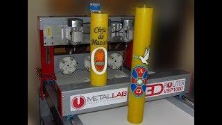 Maquina para entalhar Vela círio pascal
