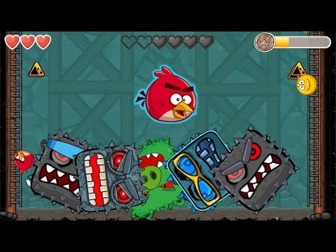 Angry Birds Animated Into The Cave 'Fusion Battle' With ( ALL CAVE BOSS ) RED BALL 4