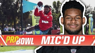 JuJu Smith-Schuster Mic'd Up at Pro Bowl Skills Challenge   Pittsburgh Steelers