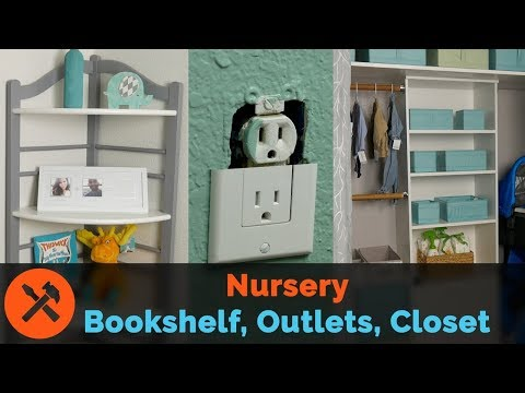 Nursery Upgrades Part 2: Window Curtains, Baby-proof Outlets, Bookshelf Refresh, Custom Closet