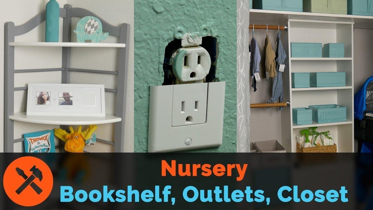 Nursery Upgrades Part 2 Window Curtains Baby Proof Outlets Bookshelf Refresh Custom Closet