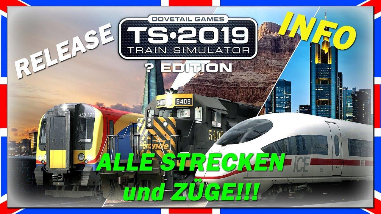 train simulator 2019 alle strecken und z ge release. Black Bedroom Furniture Sets. Home Design Ideas