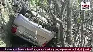 Accident on Baramulla, Jammu- Srinagar national highway, 4 persons critically injured