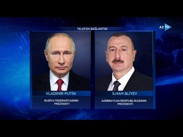 Rusiya Prezidenti Vladimir Putin Azərbaycan Prezidenti İlham ...