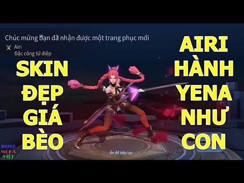 """Chơi game miễn phí nhận tiền thật - Airi Đặc công tử Điệp bán hành Yena """"Cúcógai"""" Skin đẹp giá bèo"""