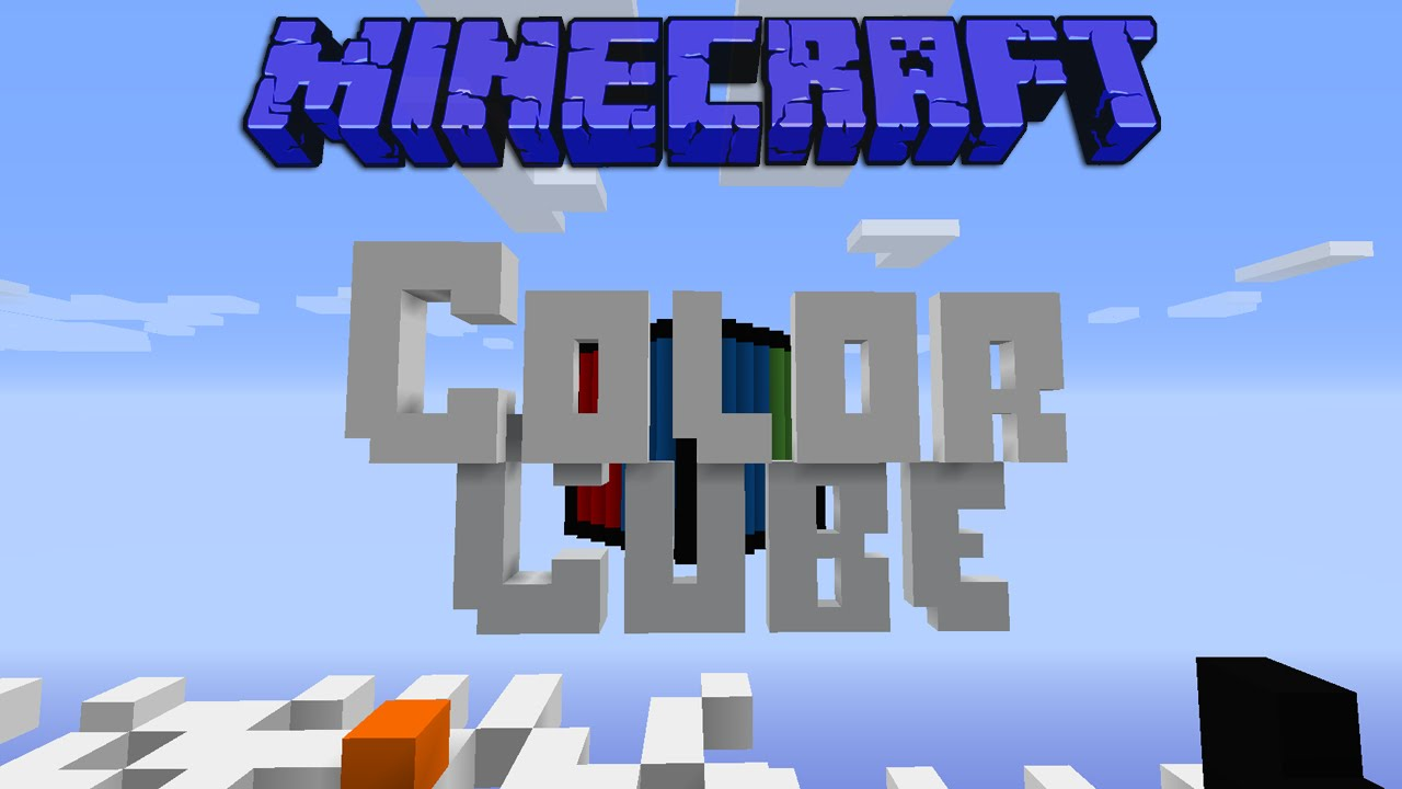Minecraft: Color Cube 1.8 Mini Game (With Hermits) - YouTube