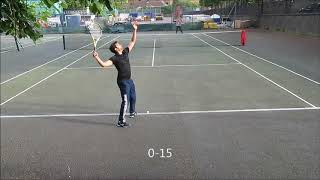 Tennis Match - Guy v Michael (1-6) & (1-3 with 30all)TBC 18MAY2018 at King Edward Memorial Park