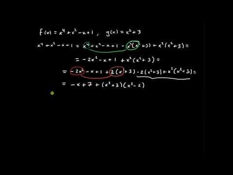 Polynom del 1, polynomdivisionиз YouTube · Длительность: 10 мин10 с