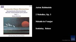 Anton Rubinstein, 2 Melodies, Op. 3, Melodie in F major