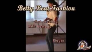 Betty Beat Fashion first shooting with Ramona Rieger backstage video
