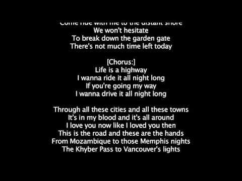 LIFE IS A HIGHWAY   Ian McCrudden w: lyrics