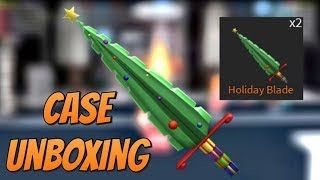 UNBOXING HOLIDAY BLADE! ROBLOX ASSASSIN CASE UNBOXING (ROBLOX ASSASSIN)
