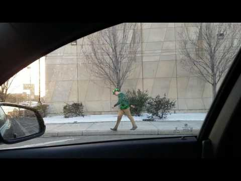 Drunk frolic home in traffic St Paddy