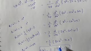 Legendre's polynomial for n=3, find P3(x)  in Telugu तेलुगु