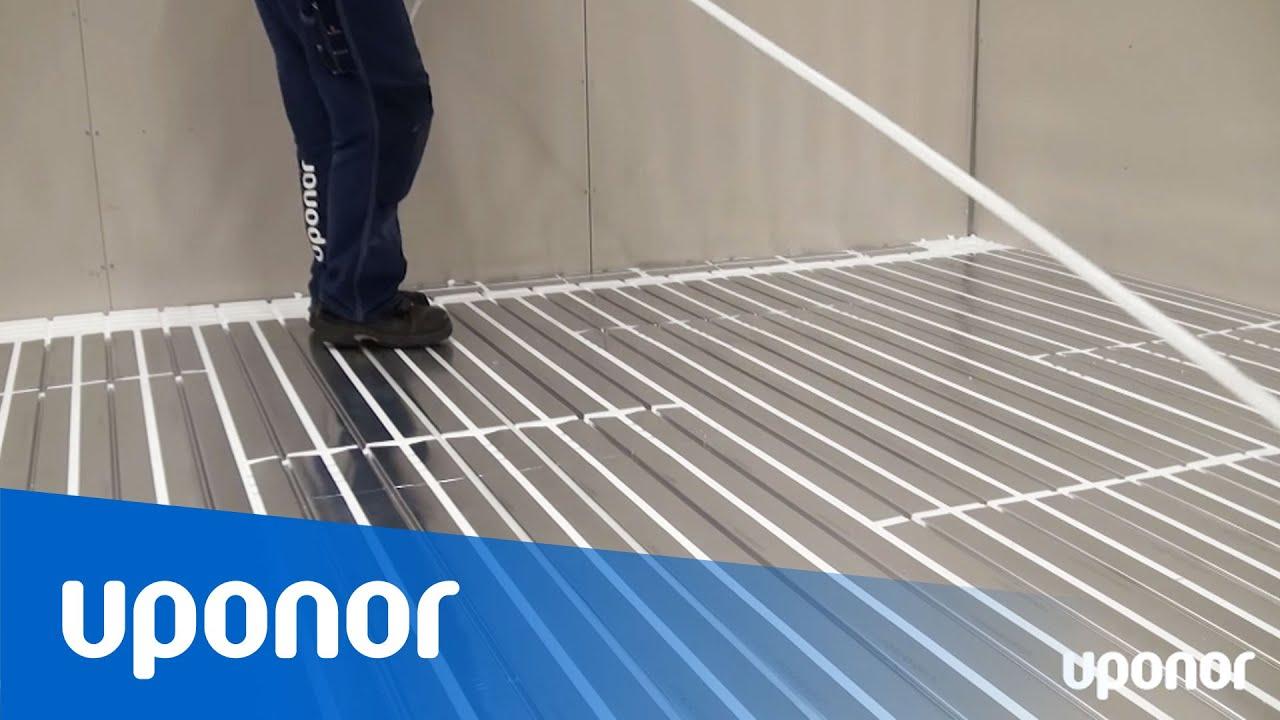 Usædvanlig Installation af gulvvarme på eksisterende gulv med minimal CK82