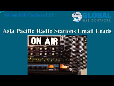 Asia Pacific Radio Stations Email Leads